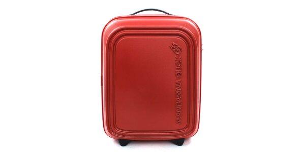 Červenooranžový cestovní kufr s TSA zámkem Mandarina Duck
