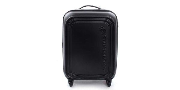Černý cestovní kufr na kolečkách Mandarina Duck