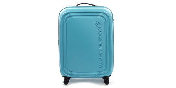 Tyrkysový cestovní kufr na kolečkách Mandarina Duck