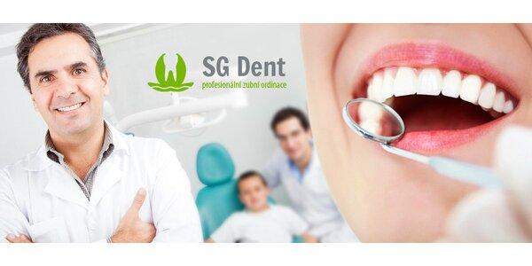 Dentální hygiena s bělením a Silonite