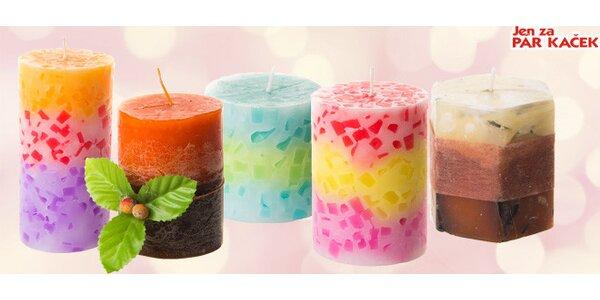Velký výběr dekorativních aromatických svíček