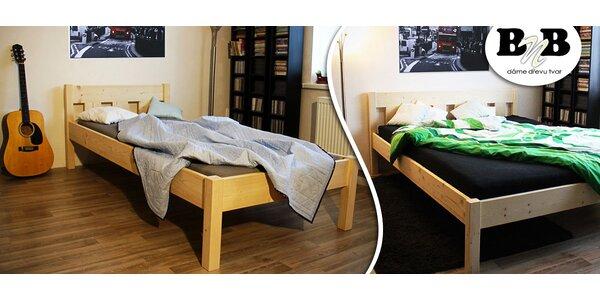 Masivní postele Listello s matrací či bez