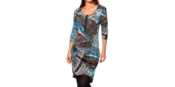 Dámské modro-šedé šaty Kool