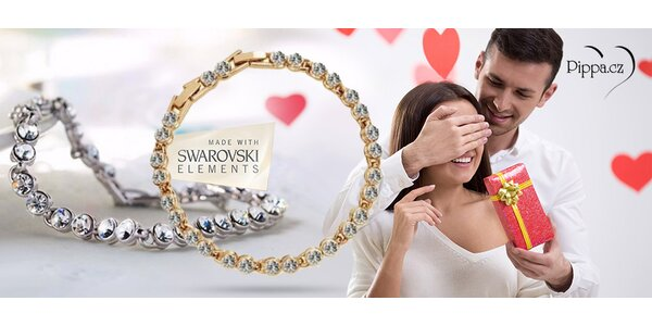 Elegantní náramek s krystaly Swarovski