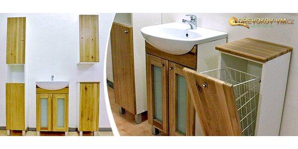 Sestavy koupelnových skříněk z masivu