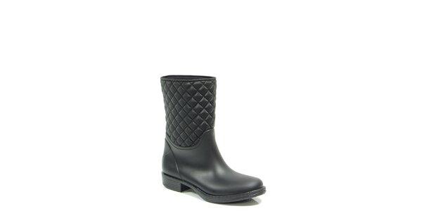 Dámské černé prošívané boty Favolla