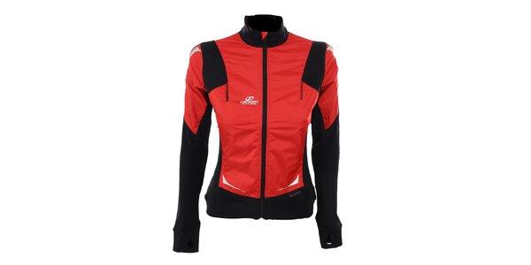 Dámská červeno-černá funkční bunda Hannah