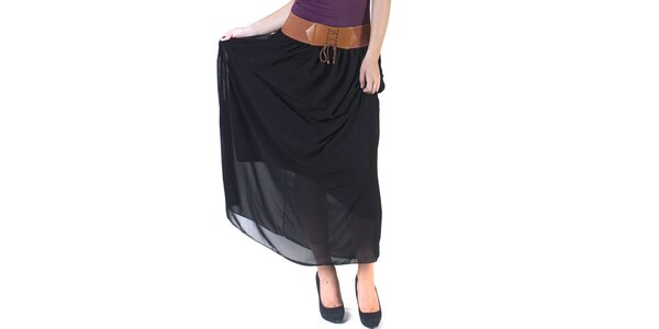 Dámská černá maxi sukně Pepper Tree