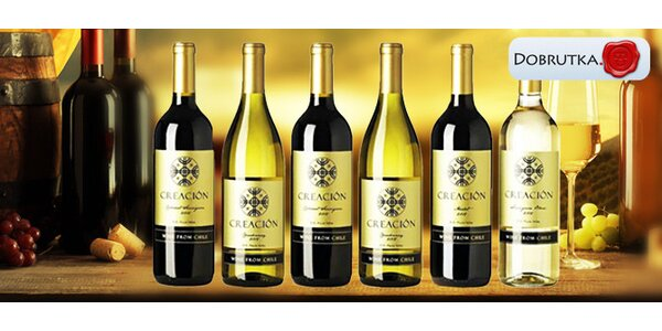 Výběr 6 či 12 chilských vín značky Creación