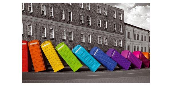 Barevné budky - domino