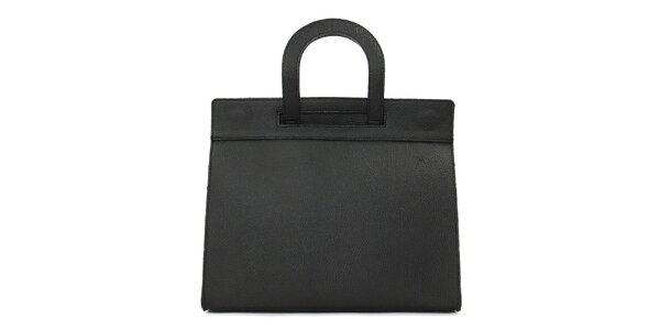 Dámská černá kožená kabelka Kreativa bags