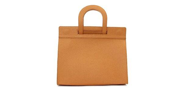 Dámská hnědobéžová kožená kabelka Kreativa bags