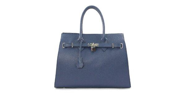 Dámská tmavě modrá kabelka se zámečkem Kreativa Bags