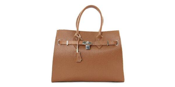 Dámská hnědá kabelka se zámečkem Kreativa Bags