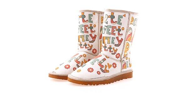 Dámské boty s písmenky Elite Goby