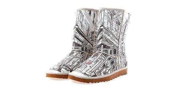 Dámské boty Elite Goby s černobílým potiskem