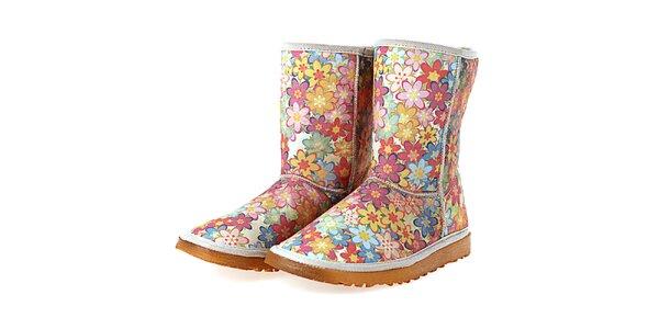 Dámské barevné boty s potiskem květinové zahrady Elite Goby