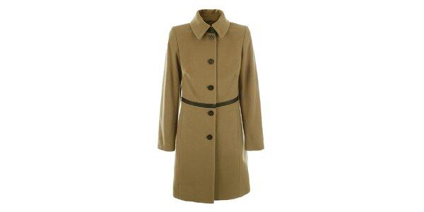 Dámský světle hnědý kabát na knoflíčky inAvati