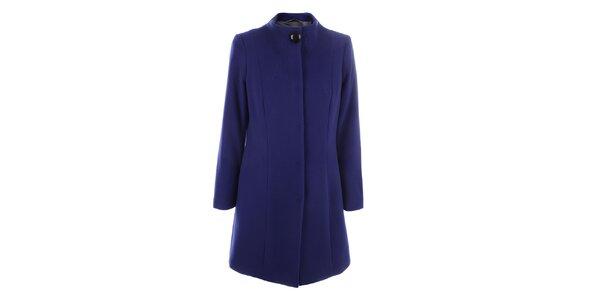 Dámský modrý kabát se zapínáním na druky inAvati