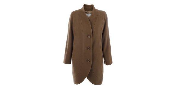 Dámský kabát s knoflíky ve světle hnědé barvě inAvati