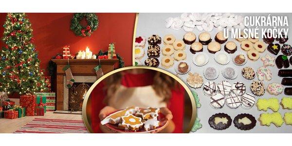 1 kg vánočního cukroví od Mlsné kočky (15 druhů!)