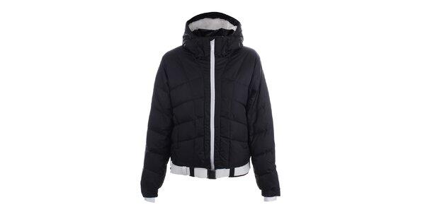 Dámská černá lyžařská bunda s páskem Joluvi