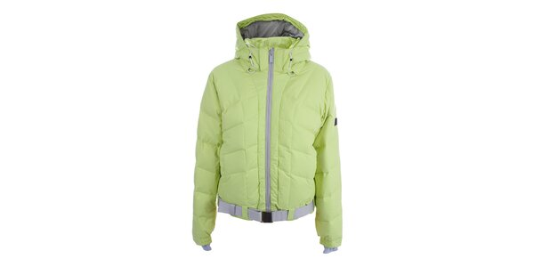 Dámská limetková lyžařská bunda s páskem Joluvi