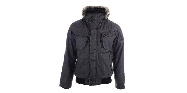 Pánská zimní bunda s kapsami Joluvi