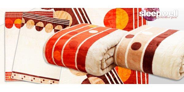 Hřejivá deka z mikroflanelu od české značky Sleep Well®