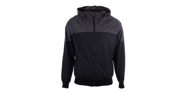 Pánská šedo-černá sportovní bunda s kapucí Joluvi