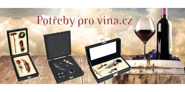 Dárkové sady vychytávek pro milovníky vína