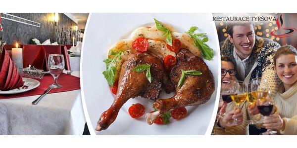Svatomartinské menu pro dva v Restauraci Tyršova