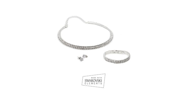 Dámská sada šperků Swarovski Elements - náušnice, náhrdelník a náramek