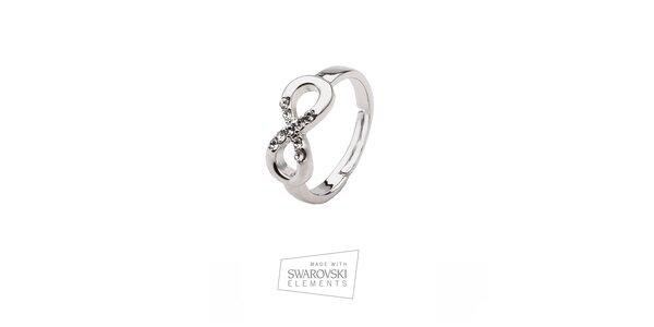 Dámský prsten se znakem nekonečna Swarovski Elements