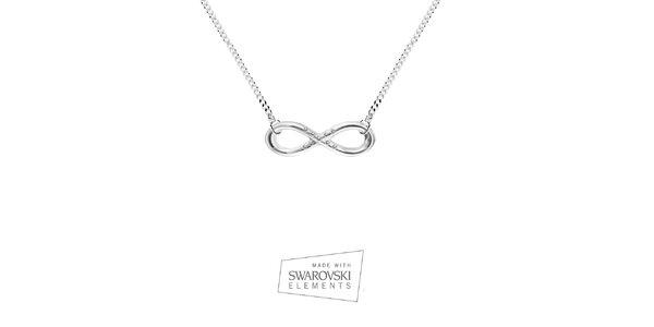 Dámský náhrdelník se znakem nekonečna Swarovski Elements
