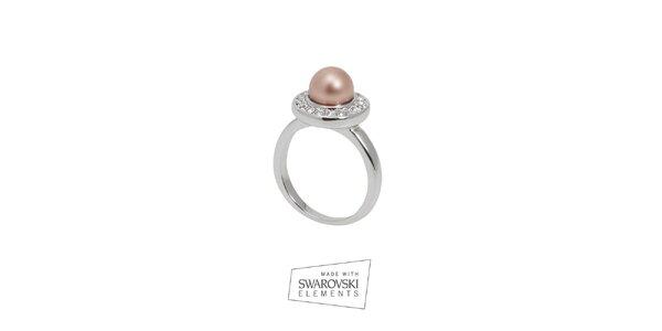 Dámský prsten s perlou Swarovski Elements