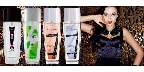 Balíček čtyř parfémovaných deodorantů pro dámy
