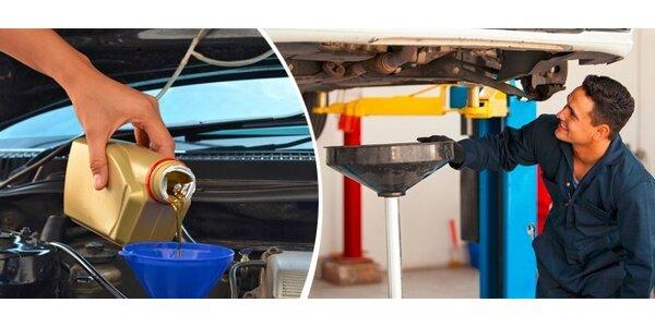 Výměna oleje + bonus - vizuální kontrola podvozku a brzdné soustavy