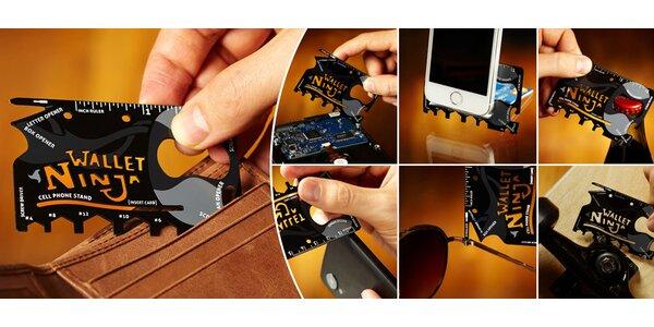 Multifunkční nástroj ve velikosti karty – Wallet Ninja!
