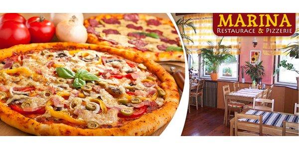 2 znamenité pizzy o průměru 32 nebo 40 cm