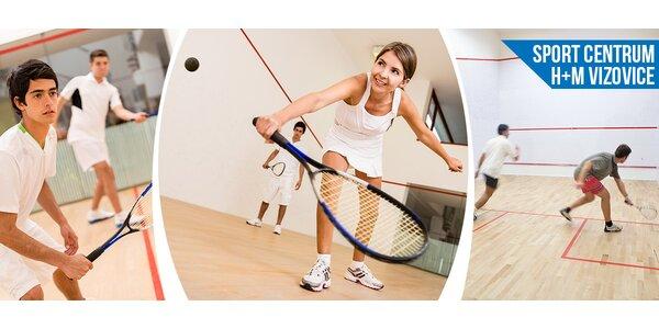 Squash pro dva na 1 nebo 2 hodiny