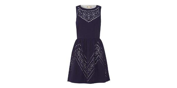 Dámské tmavomodré šaty s průstřihy Yumi