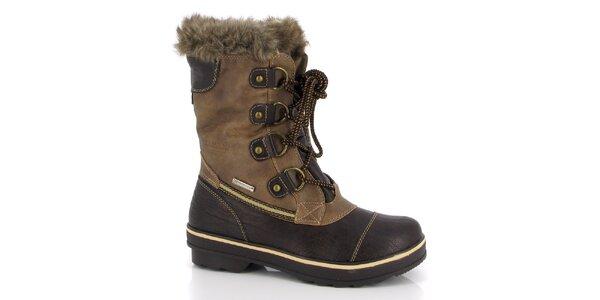 Dámské hnědé boty se zavazováním Kimberfeel
