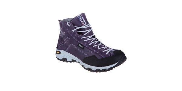 Dámské fialové kotníkové boty s tkaničkami Kimberfeel