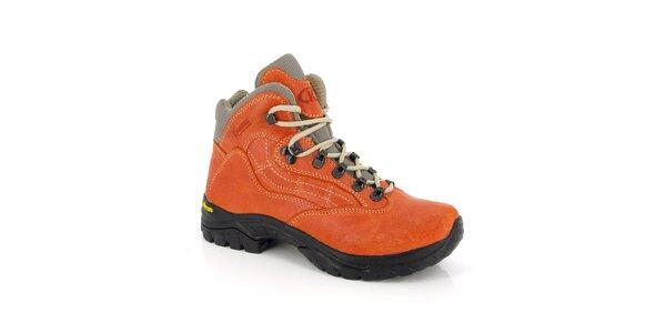 Dámské tmavě oranžové kotníkové boty Kimberfeel
