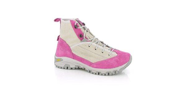 Dámské růžové trekové boty Kimberfeel