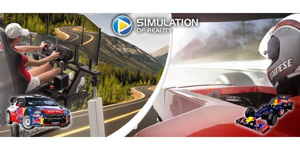 Zážitek na profesionálních simulátorech Formule 1 a Rallye