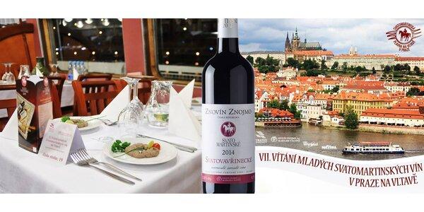 Svatomartinská plavba s hostinou, cimbálem i vínem