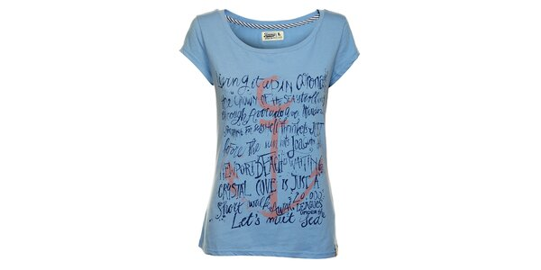 Dámské nebesky modré tričko Timeout s potiskem
