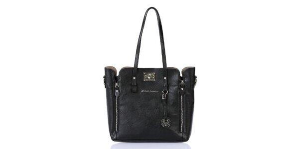 Dámská černá kabelka se zipy a s vnitřní taštičkou Giorgio di Mare